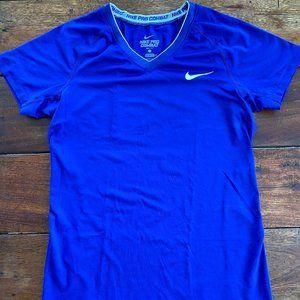 Navy Blue Nike Pro Combat Dri-Fit Shirt